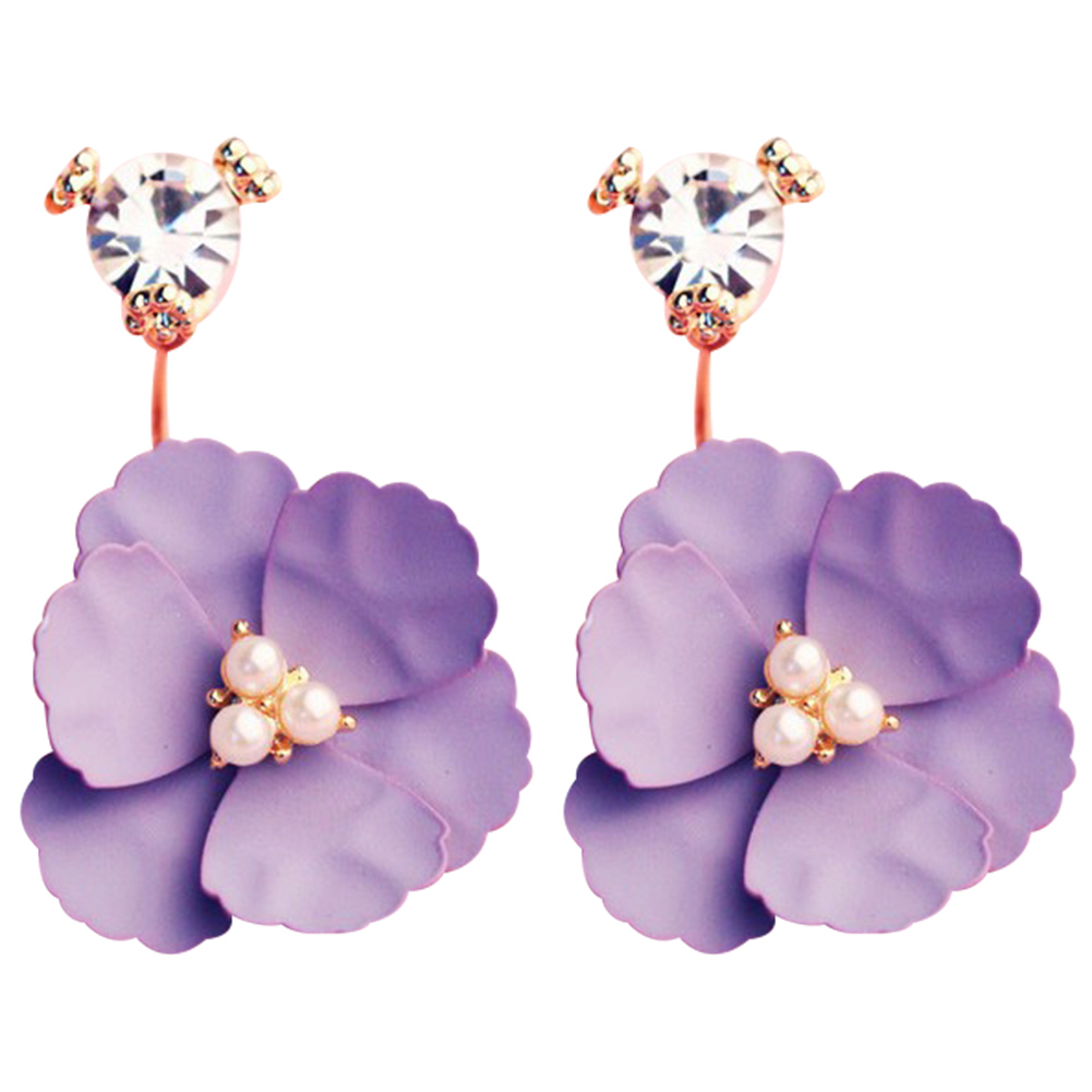 Stud Filles Chine Style Boucles D/'oreilles Créoles Vintage Boucles D/'Oreilles élégant Ronde Fleur