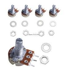5Pcs B10K ohm Linear Taper Rotary Potentiometer Panel Pot 15mm New