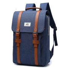 Unisex Vintage Men Women Canvas Backpacks School Bags For Teenagers Boys Girls Capacity Laptop Backpack