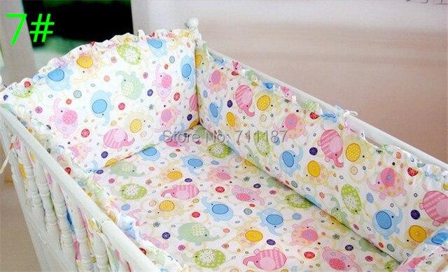 Cheap Crib Bedding Customize baby bedding embroidered suite piece set 6 pieces Set Piece Set Baby Bedding Bed Around