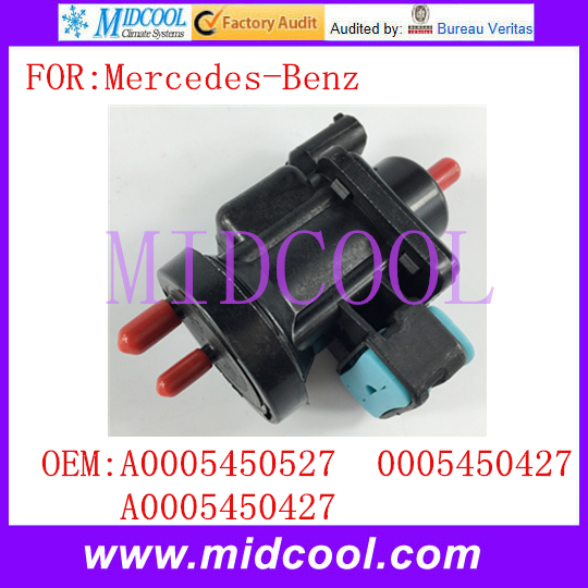 New Vacuum Pressure Converter Solenoid Valve use OE NO. A0005450527 , <font><b>A0005450427</b></font> , 0005450427 for Mercedes-Benz image