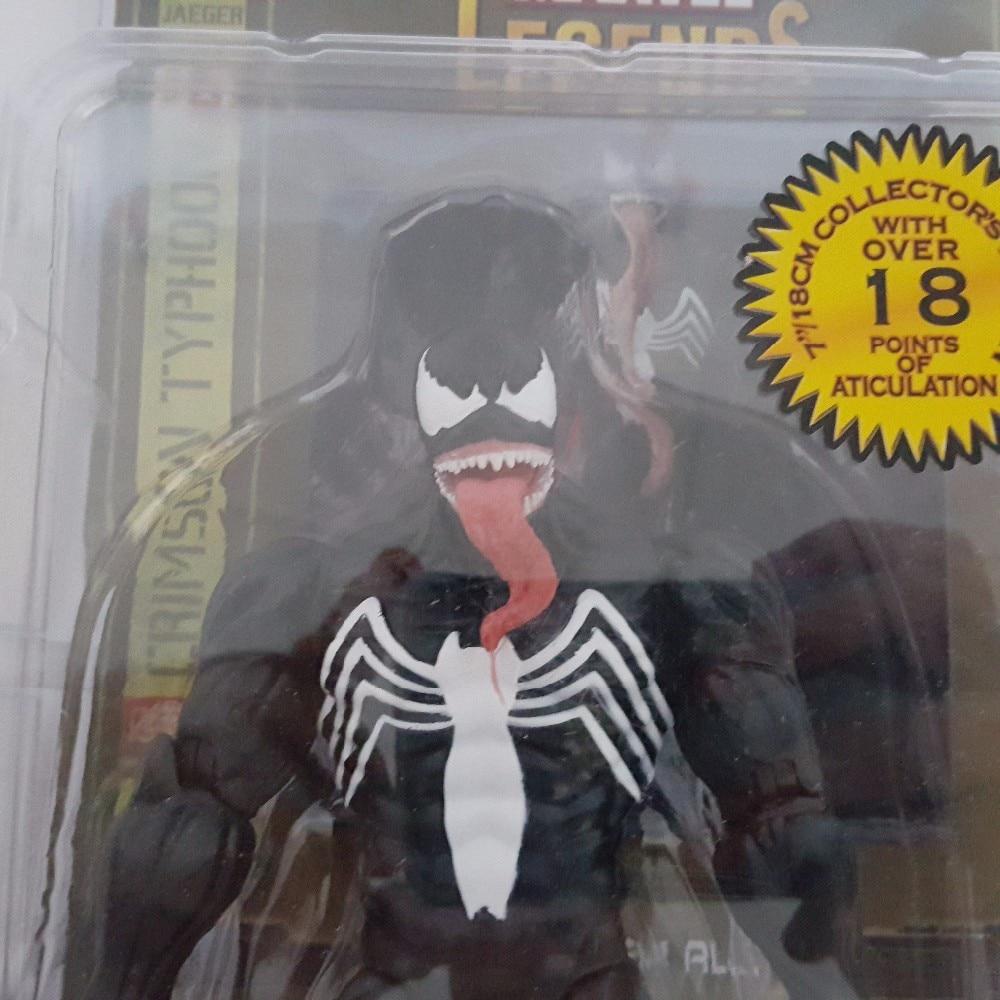 Spider Man Action Figure Venom Spider Collection Model Toys Spider-Man Venom PVC Figure Spiderman Model Toys 7inch spider man toys 2002
