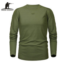MEGE Brand Tactical Military Clothing Men's shirt Dropshipping Solid Coolmax Quick-drying Long Sleeve Army Casual Male Tee Shirt(China)