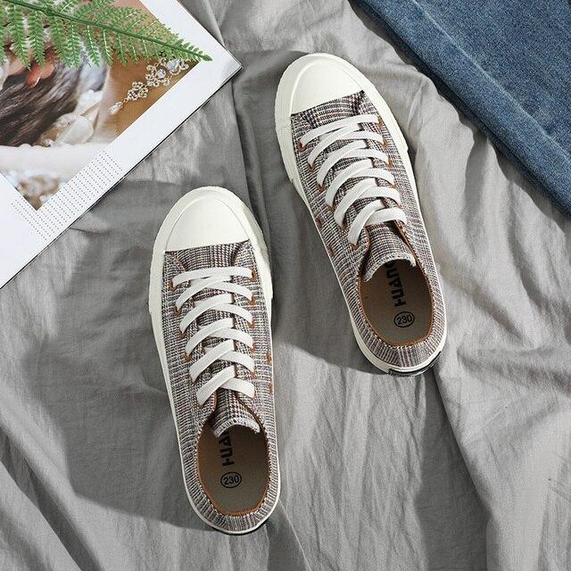 Klasik Tuval Kadın Ayakkabı Nefes Rahat moda Açık Öğrenciler yüksek kaliteli ayakkabılar