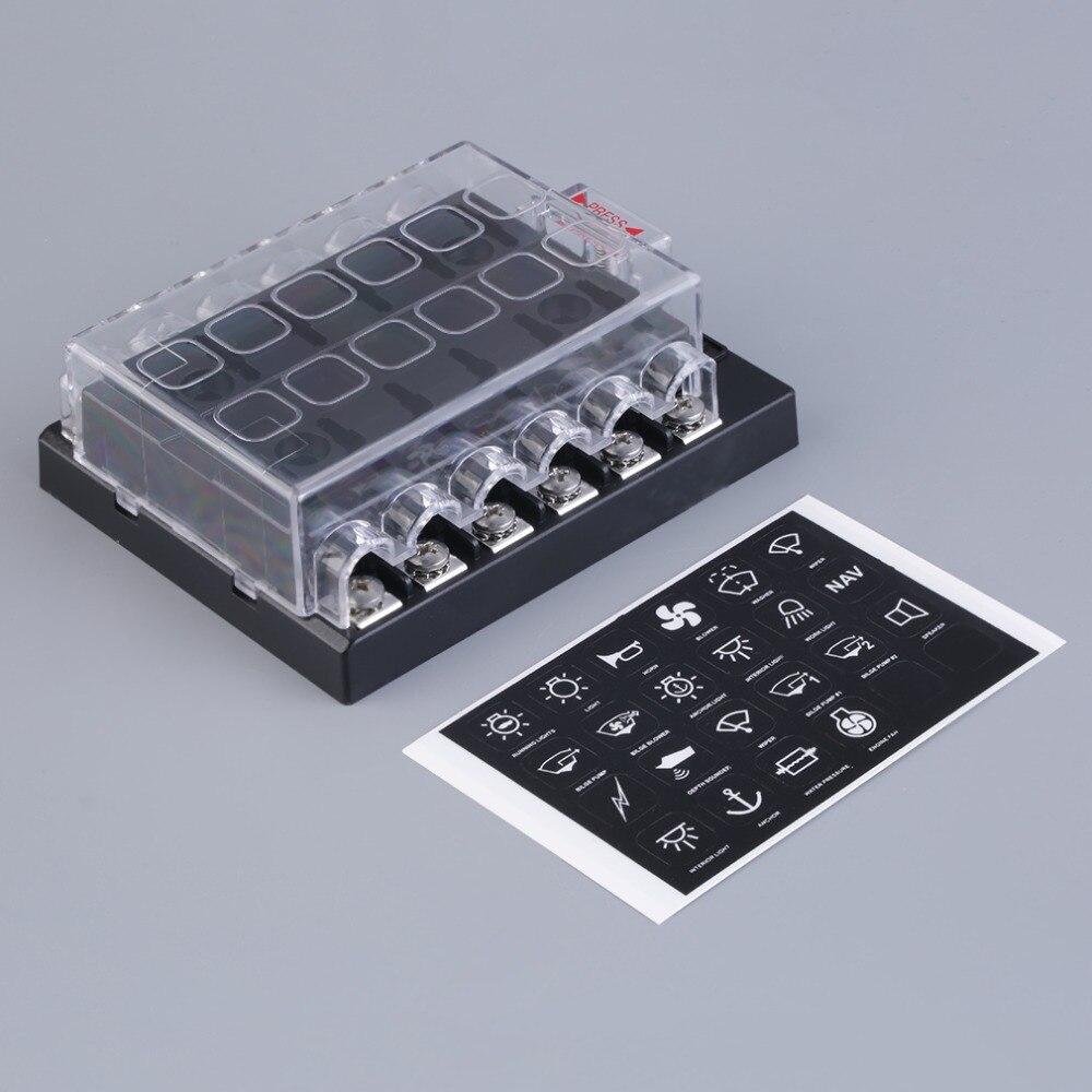 купить 3Pcs 12 Way Circuit Car ATC ATO Blade Fuse Box Block Holder 32V Terminals High Quality недорого