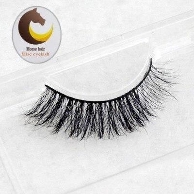 Wholesale 2016 New stlye Black 100% Real Horse Hair Thick Long High quality Fake Eye Lashes Natural False Eyelashes Makeup Tools