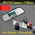 """5 """" Monitor espelho + câmera de estacionamento de segurança do carro para Chevrolet Epica Lova Aveo Captiva Cruze carro câmera reversa"""