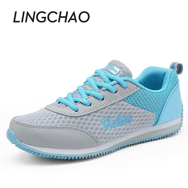 0896f3fd510 Estilo Casual Mujer zapatillas colores mezclados Sneakers para las niñas  zapatos deportivos zapatos de plataforma de