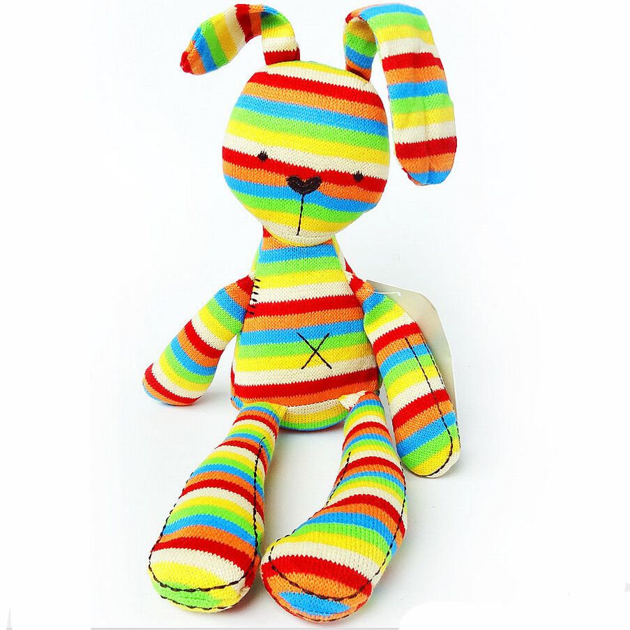 50cm Birthday Gift Mamas&Papas Colorful Stripe Rabbit Soft Plush Toy Bunny Rabbit Baby Placate Toy Children's Christmas Gifts