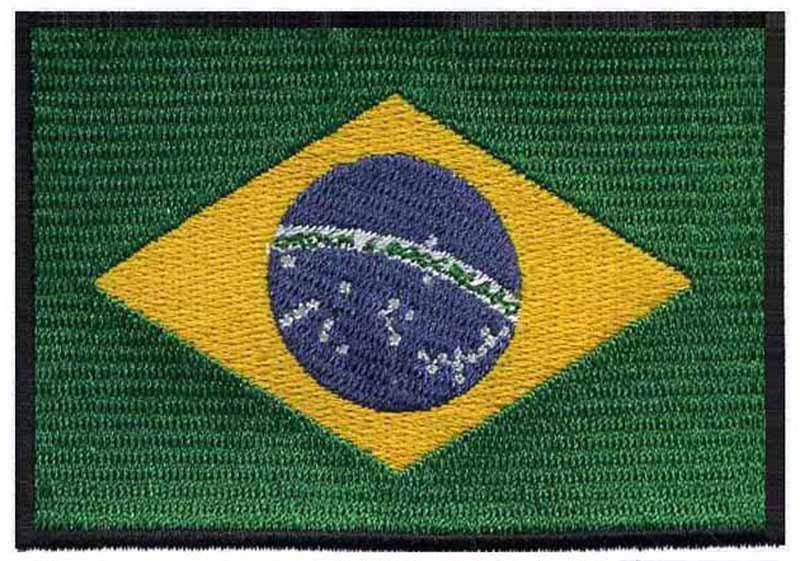Parche con plancha applikation Iron on patches de Brasil Bandera de Brasil Brazil peque/ño