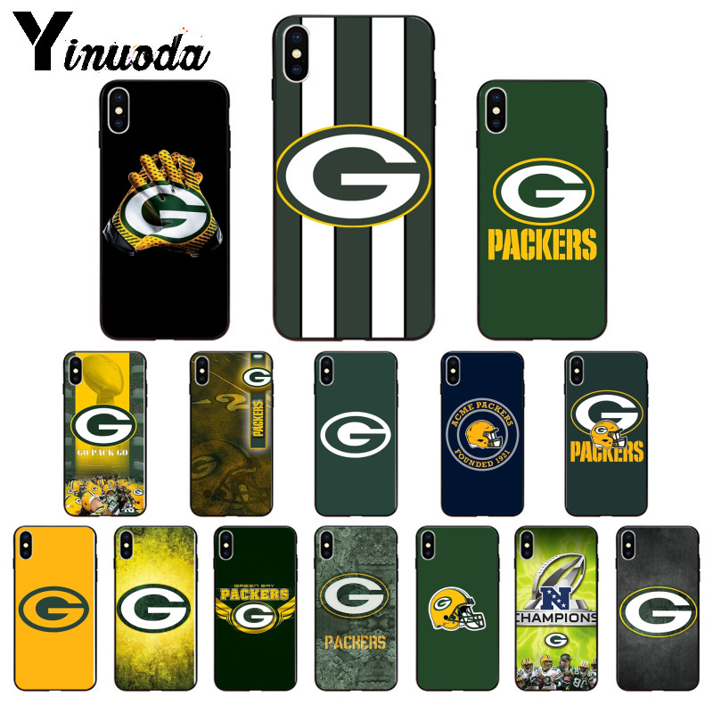 Yinuoda Green Bay Packers Soft Silicone TPU Phone Cover for Apple iPhone 8 7 6 6S Plus X XS MAX 5 5S SE XR Cellphones image