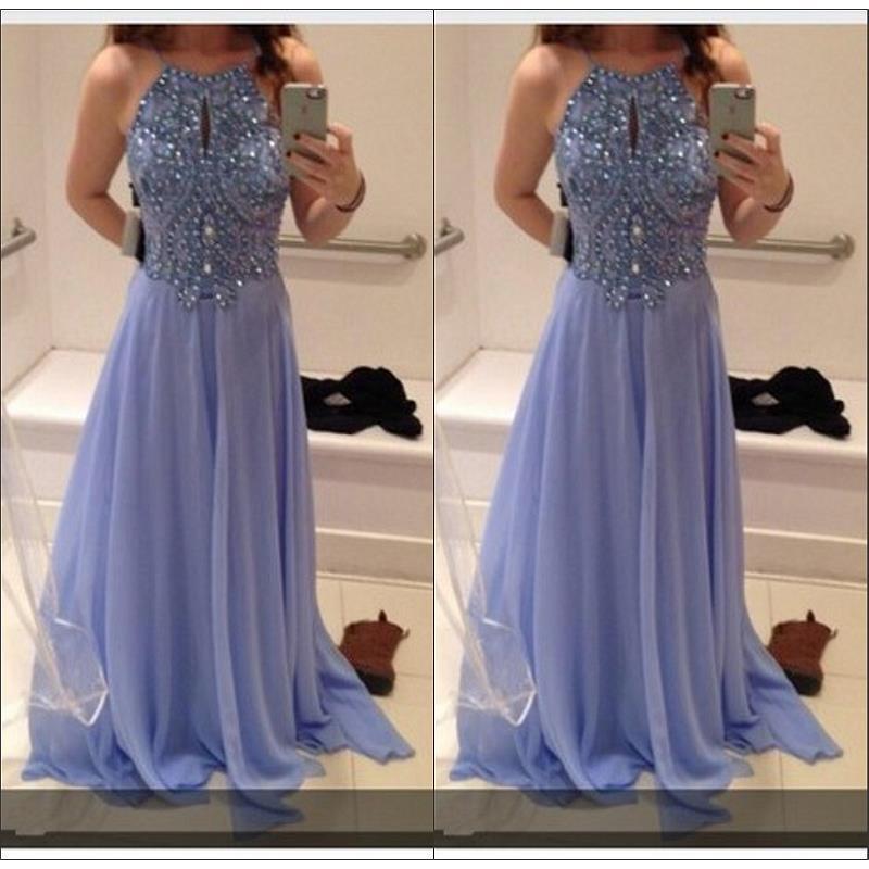 Luxury Bling Bling   Prom     Dresses   Floor Length 2019 Vestidos Largos De Fiesta Beaded Crystal Chiffon Imported Party   Dress   Evening