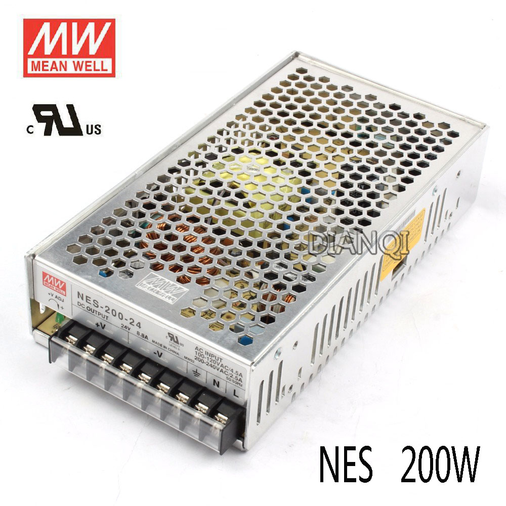 Original MEAN WELL power suply unit ac to dc power supply 200W 5V 40A 12V 17A 15V 14A 24V 8.8A 48V 4.4A MEANWELL 1pcs 60w 12v 5a power supply ac to dc power suply 12v 60w power supply 100 240vac 111 78 36mm