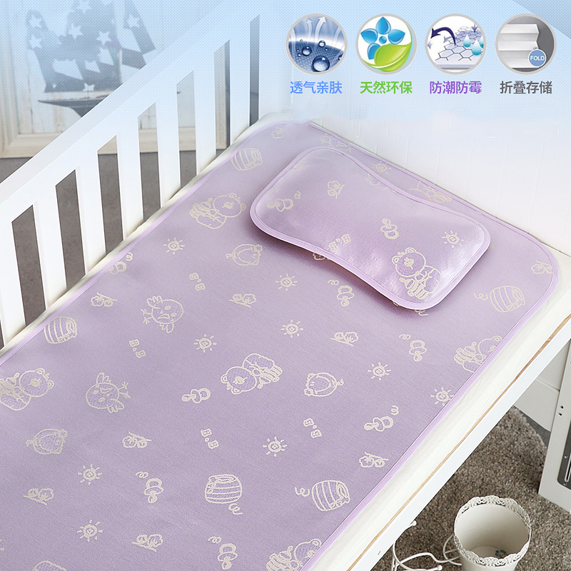New Baby Sleeping Mat Green Bed Mat Child Bedding Breathable With Infant  Pillow Bed Sets Kids