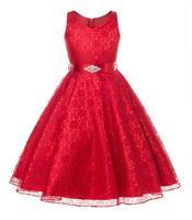 Burst Girl Lace Dress Sweetheart Princess Evening Dress Party Dress Child Dress