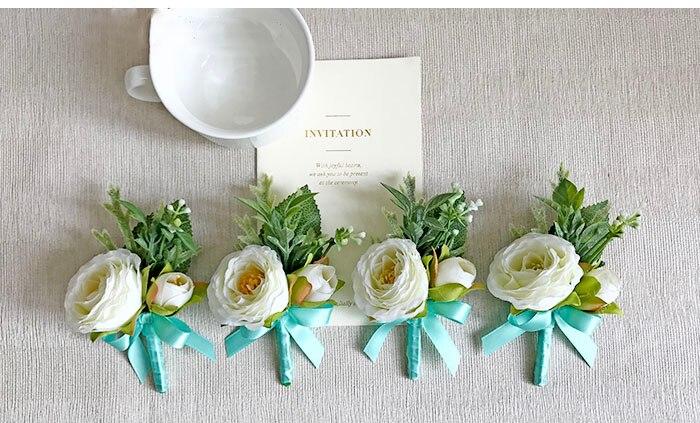 wedding wrist corsage boutonniere marriage  (10)