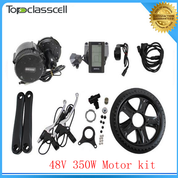все цены на EU No Tax 48V 350W BAFANG Brushless Geared Mid-Drive Motor eBike Conversion Kits with integrated Controller and LCD Display-C965 онлайн