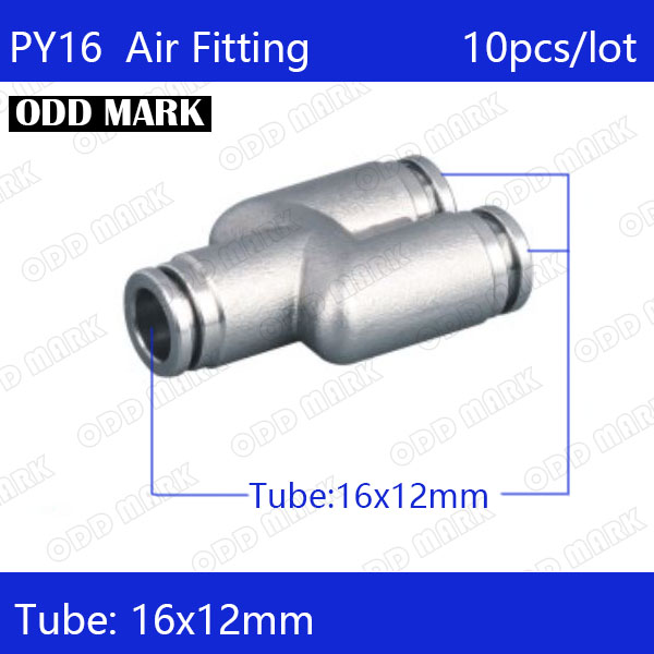 Free shipping 10pcs/lot 16mm PY16,304 Stainless Steel Union Y Connector цена