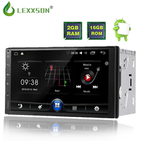 Lexxson 2 din android 6.0 car radio auto car stereo multimedia player universal GPS Navigation 1024*600 remote control