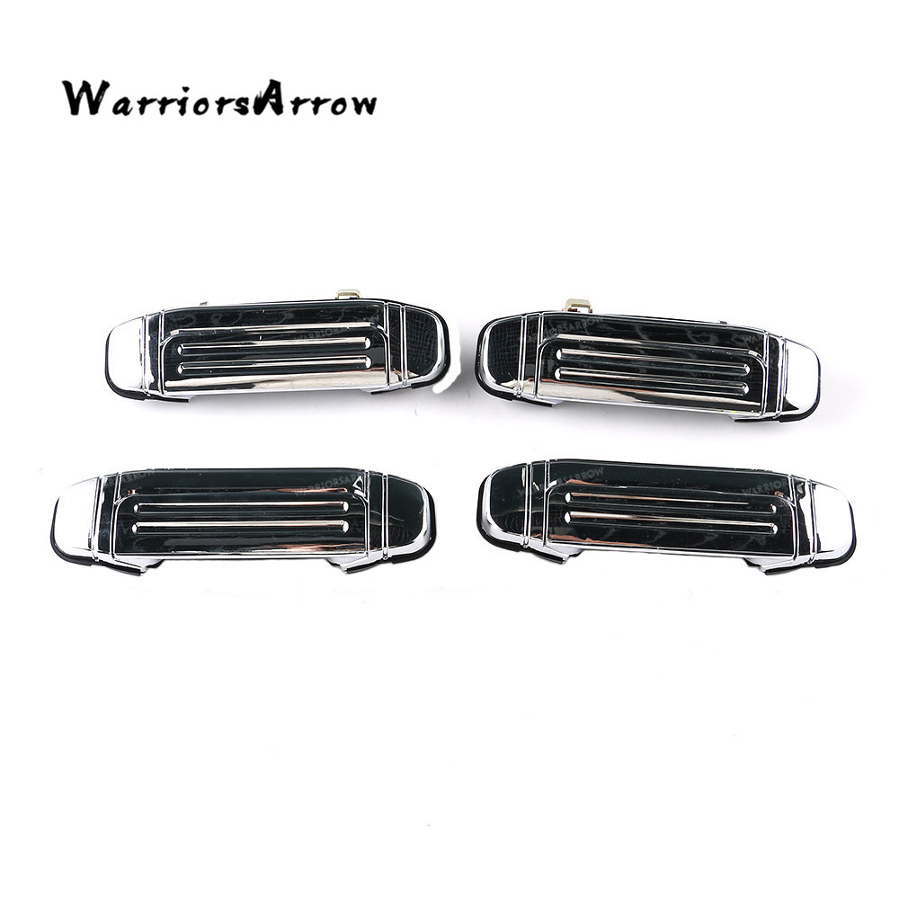Chrome Full Car Front Rear Outer <font><b>Door</b></font> <font><b>Handle</b></font> For <font><b>Mitsubishi</b></font> Pajero V31 V32 V33 V43 V46 MR156875 MR156876 MR156877 MR156878 image
