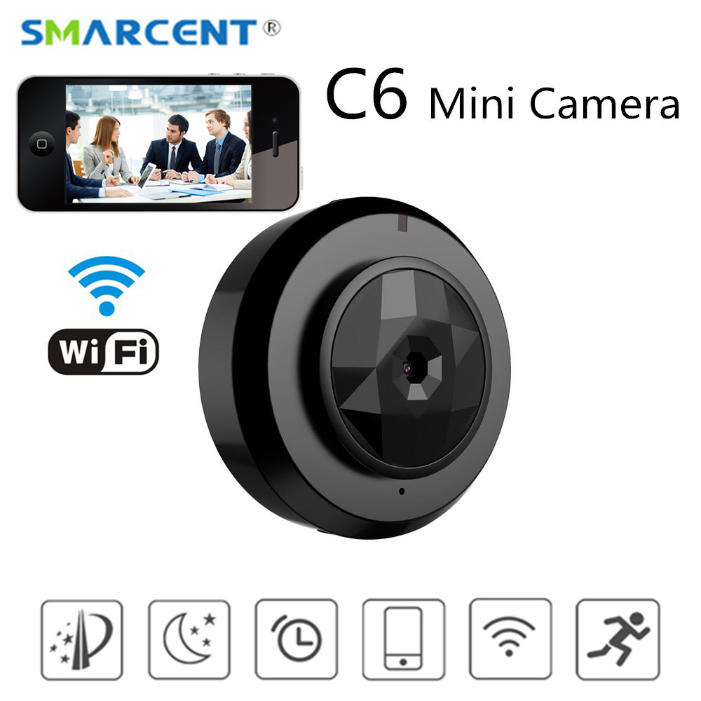 2018 C6 Mini P2P Camera for Baby Home Security WIFI IP Control By Mobile Phone With Night Vision HD 720P DVR Cam New Gadgets