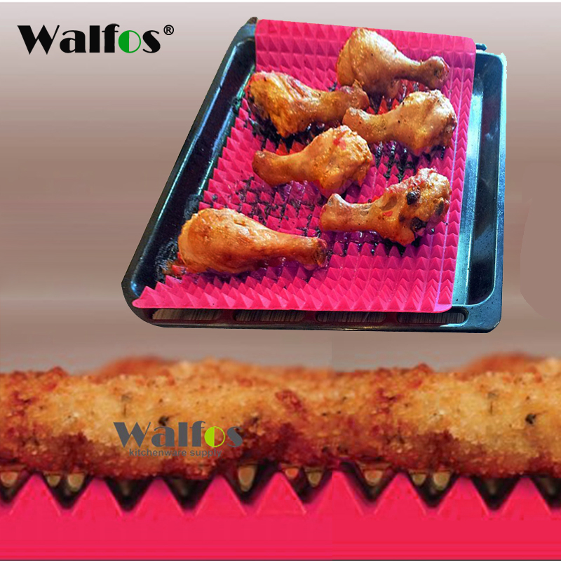 WALFOS nepřilnavá silikonová podložka na pečení kreativní pyramida silikonová podložka na pečení nepřilnavá pánev podložka na vaření podložka na pečení trouby