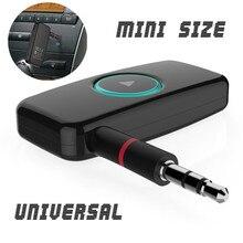цена на Universal Mini Car Wireless Bluetooth 4.0 Stereo Music Audio Receiver 3.5mm Adapter Speaker AUX