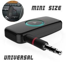 Универсальный мини Автомобильное Беспроводной Bluetooth 4.0 музыке стерео аудио приемник 3.5 мм адаптер Динамик AUX