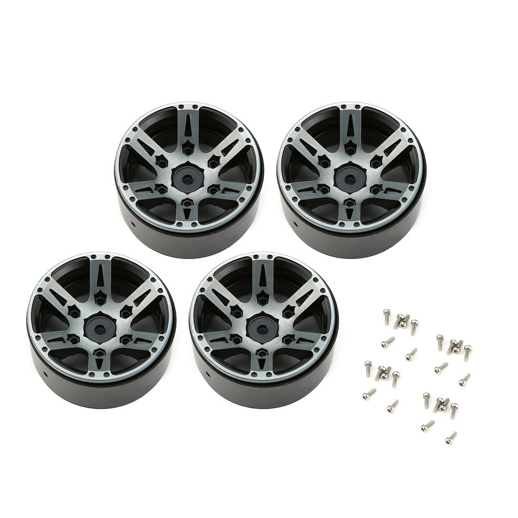 Image 2 - 4pcs T power 1.9 Inch RC Tires Beadlock Alloy Wheels Hub Beadlock Rim Set for 1/10 RC Car RC Component Spare Parts Accessories-in Parts & Accessories from Toys & Hobbies