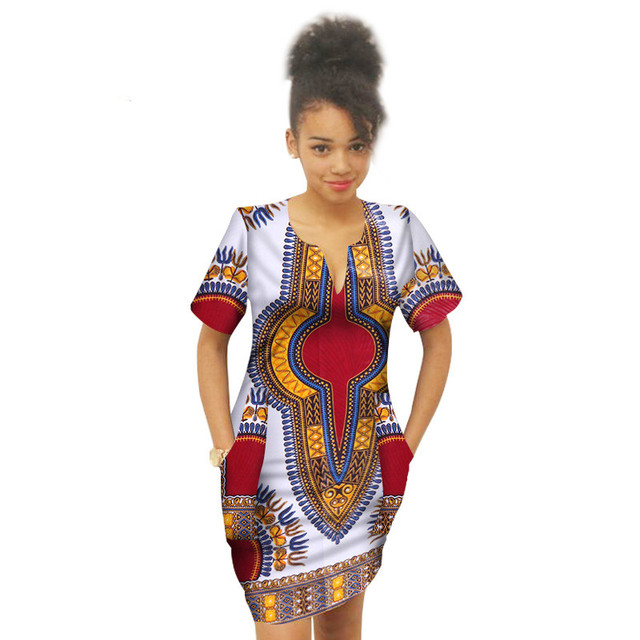 722722234e54 Summer Africa Above Knee Dress for Girl Bazin Riche Dress For Child African  Wax Print Plus