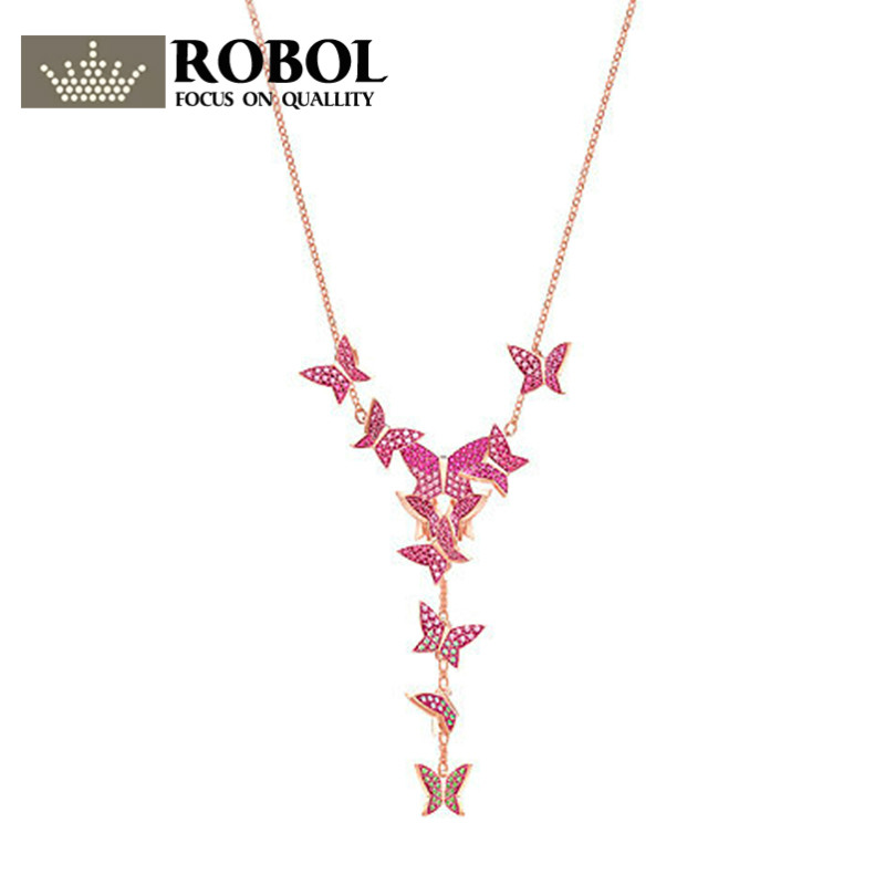ROBOLHigh Quality Swar Original 1:1 Butterfly Necklace Has Logo Please Check More Swar products InThe Store FreeMailROBOLHigh Quality Swar Original 1:1 Butterfly Necklace Has Logo Please Check More Swar products InThe Store FreeMail