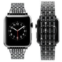 ASHEI For Apple Watch 4 Band 40mm 44mm Rhinestone Luxury Diamond Stainless Steel Bracelet For iWatch 42mm 38mm Series 3 2 1