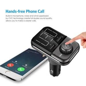 Image 5 - BT72 מהיר תשלום 3.0 USB הכפול יציאות מטען לרכב Bluetooth אלחוטי FM משדר יד משלוח MP3 נגן רדיו מתאם מודולטור