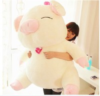huge lovely plush pig doll white smile pig toy sanshun pig doll gift about 105cm 0607