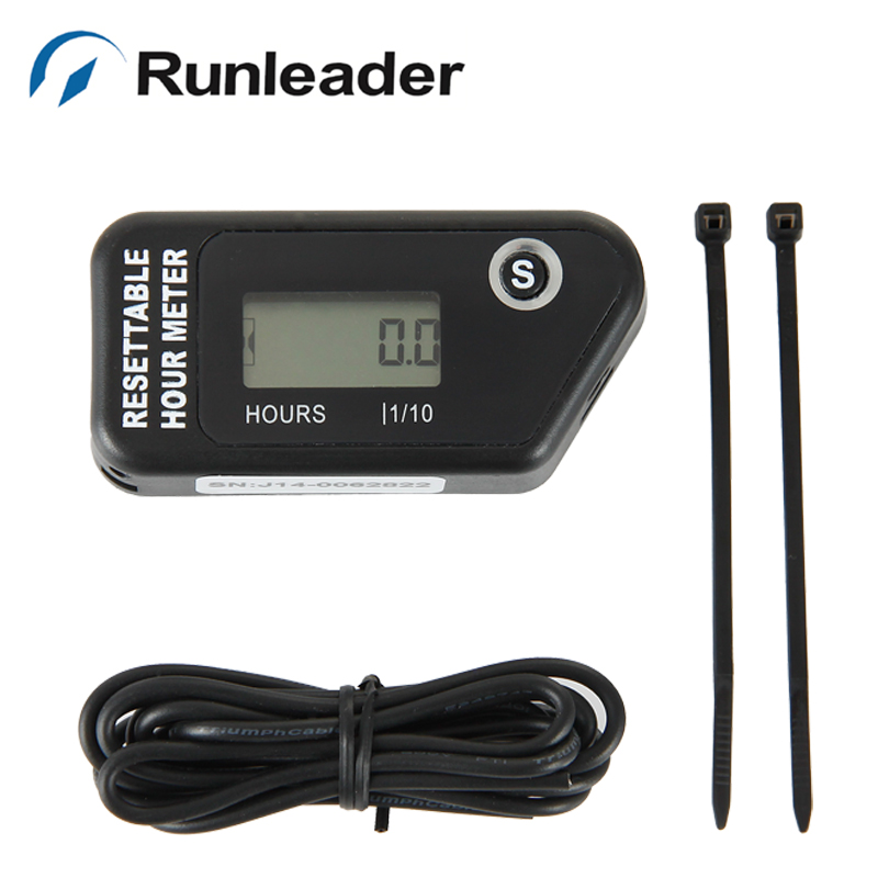 Digital inductive Hour meter For gasoline Engine--dirt bike Atv tractors motorcycle lawn mower forklift truck motocross jet ski