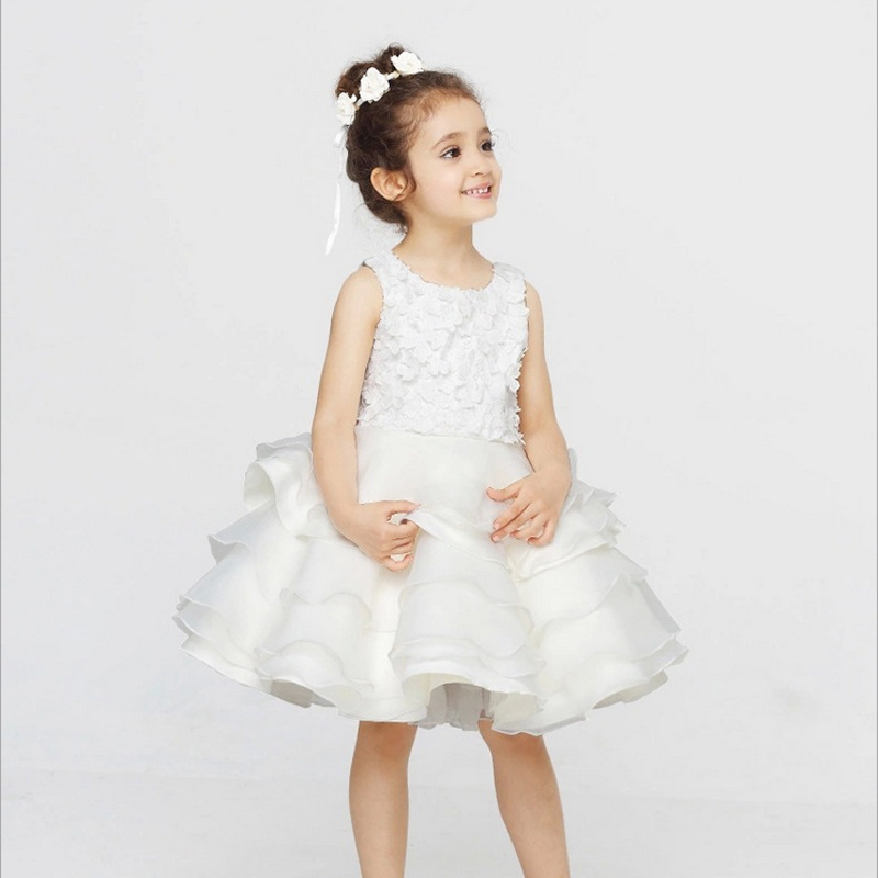2017 New Sale Jersey Knee-length Vestido Infantil Girls Summer Party Dress Princess Beautiful Girl Evening вечернее платье mermaid dress vestido noiva 2015 w006 elie saab evening dress