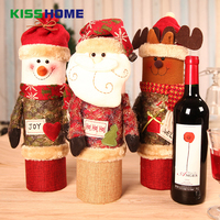 Christmas Wine Box Santa Snowman Elk Doll Whisky Knitting Gift Removable Case Creative Christmas Present Decoration Accessories