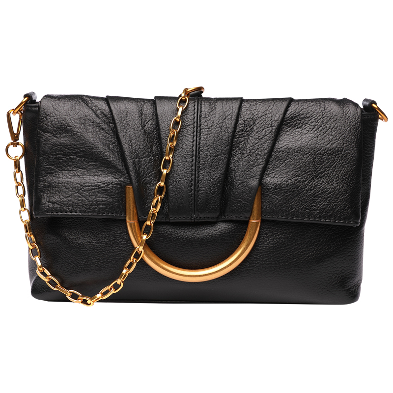 Genuine leather Fashion Ladies Envelope Shoulder Messenger Bag Handheld Fold Over bag Hand Clutch Bag Handbag Celebrity Clutches simple fashion women handbag solid color clutch bag leather envelope bags ladies over shoulder package 88 wml99