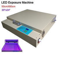 Efficiency UV LED Exposure Machine 50CMx60CM 80W Desktop Screen Printing Machine