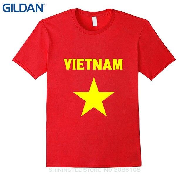 GILDAN New Metal Short Sleeve Casual Shirt Vietnam Flag T-shirt Vietnamese Flag  Tee Shirt