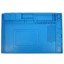 S-160 45×30 см теплоизоляция силиконовый коврик стол коврики обслуживания платформы для BGSoldering Ремонт станции с магнитной раздел