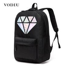 Для женщин рюкзак школьный подростков Рюкзаки для Обувь для девочек голографическая холст Для мужчин рюкзак мужской ноутбук Водонепроницаемый diamond школьная сумка
