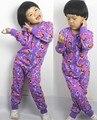 Envío gratis nuevo estilo niñas onesie pijamas de algodón niños ropa de dormir de niños en general delgada cómoda manta traviesas mono