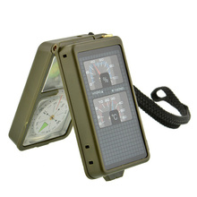 Multifunction 10 in 1 Portable Military Compass Magnifier LE