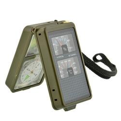 Wielofunkcyjny 10 w 1 przenośny kompas wojskowy lupa LED Light gwizdek Outdoor Sports Camping Survival akcesoria taktyczne w Zewnętrzne narzędzia od Sport i rozrywka na