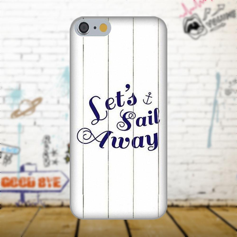 Lets Run Away Anchor Beach Quote Soft Phone Cases Cover For Galaxy A3 A5 A7 J1 J3 J5 J7 2016 2017 S5 S6 S7 S8 S9 edge Plus