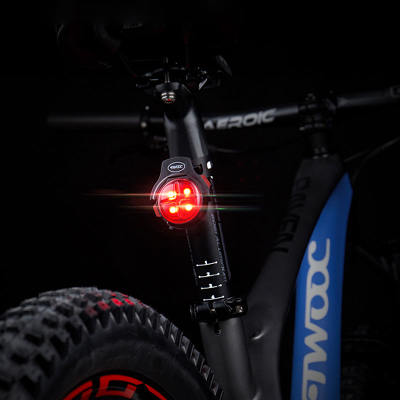 TWOOC T-003 Cycle Rear Light Braking Warning USB Charge Bicycle Brake Lamp 90 Degree Adjustable Backpack Belt Safety LED Lantern