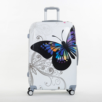 Wholesale 14 20inches Pc Butterfly Travel Luggage Sets Universal Wheels Trolley Luggage Sets For Women Super
