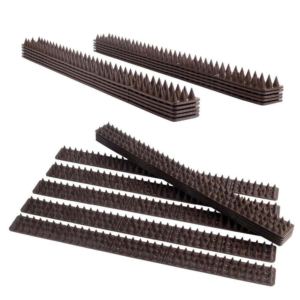 Image 2 - Forever Speed Repellent Plastic Drive Down Bollard Birds Spikes Anti Pigeons Birds  40pcs Spikes brown spikes 49 x 4.5 x 1.7 cmRepellents   -