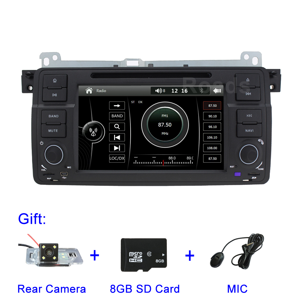 Car DVD Multimedia Player for BMW E46 M3 with Radio Canbus BT GPS USB isudar car multimedia player gps for bmw e46 m3 mg zt rover 75 canbus radio capacitive touch screen dvd player bluetooth ipod